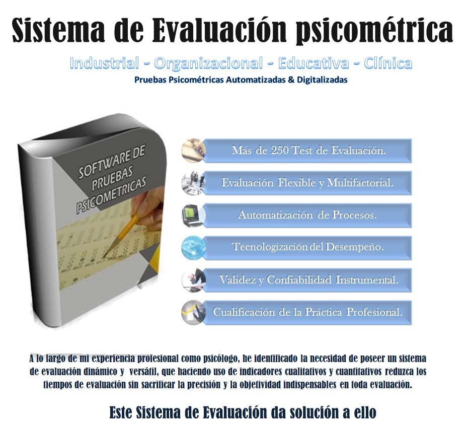 Sistema de Evaluación psicométrica: 250 Exámenes Psicométricos