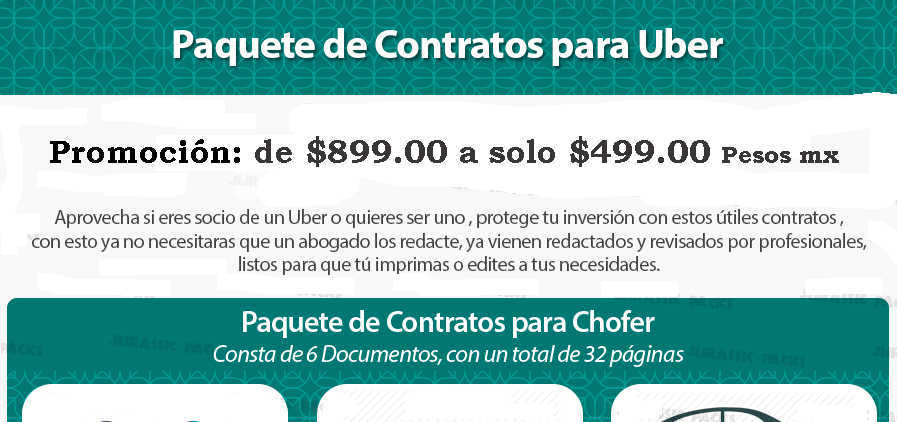 Contrato para chofer de uber