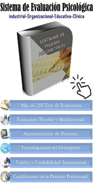 Software de pruebas Psicométricas: 250 Test Psicométricos
