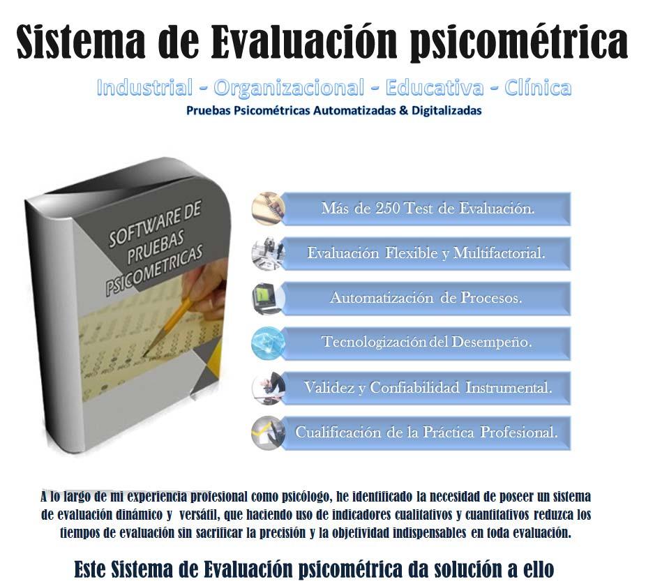 Sistema de Evaluación psicométrica: 250 Test Psicométricos